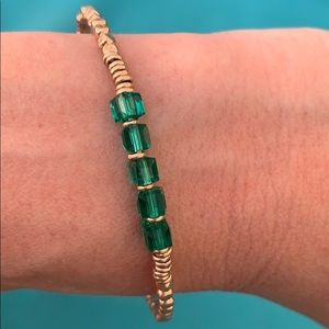 Keep collective emerald green bracelet